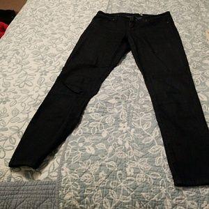 Fitted dark denim jeans